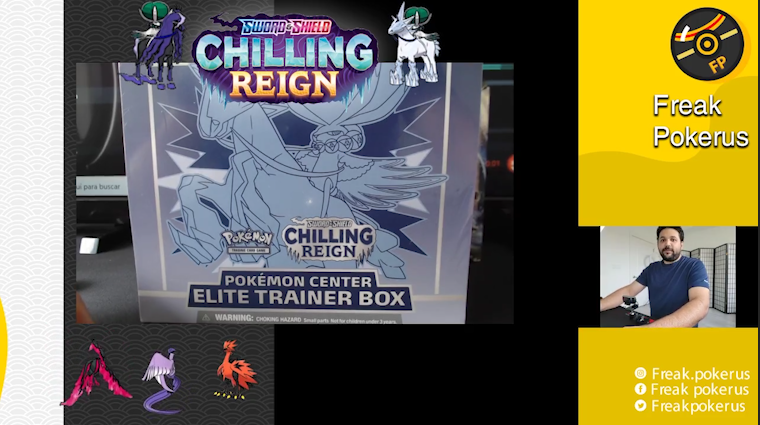 Pokemon TCG -Chilling Reign Unboxing